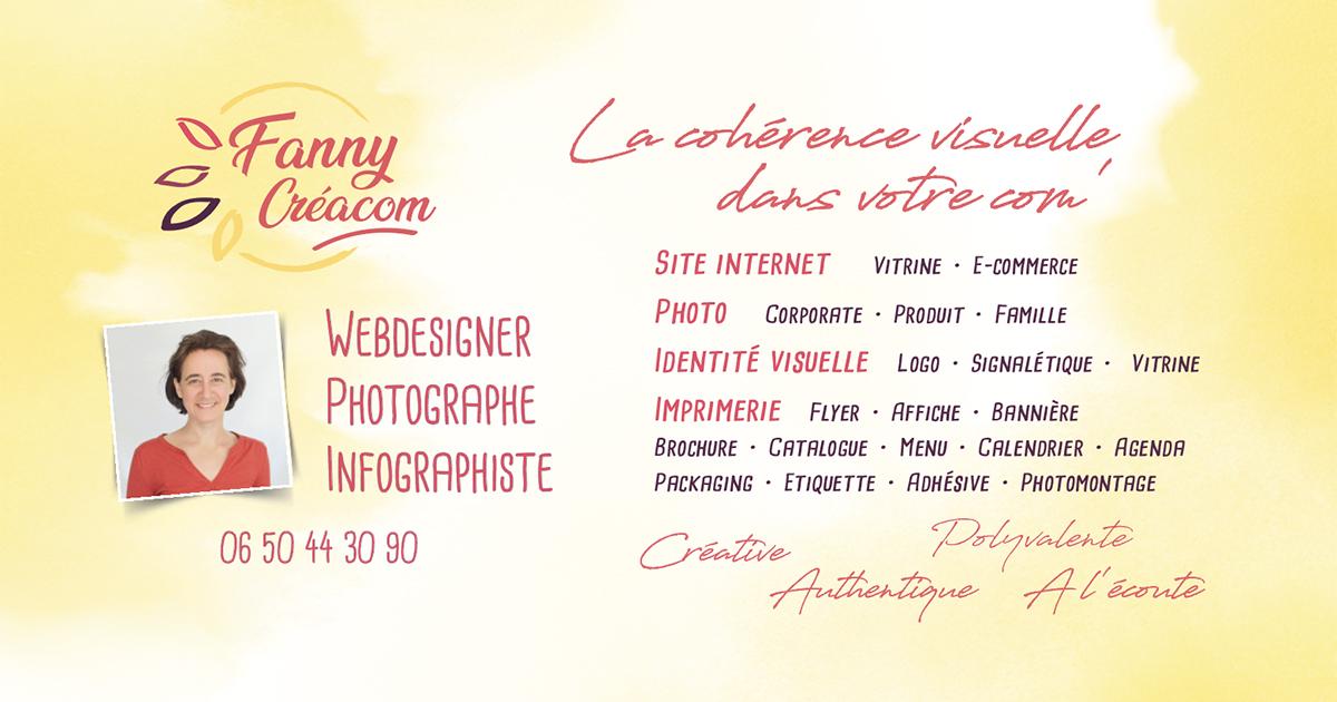 Fanny-creacom Webdesigner Graphiste Imprimerie Photo